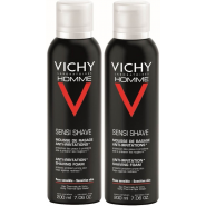 Vichy Homme Mousse à Raser Anti-irritations 2 x 200 ml