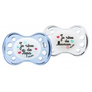 Dodie Sucette Anatomique Nuit Silicone n°A36 +6 mois x 2