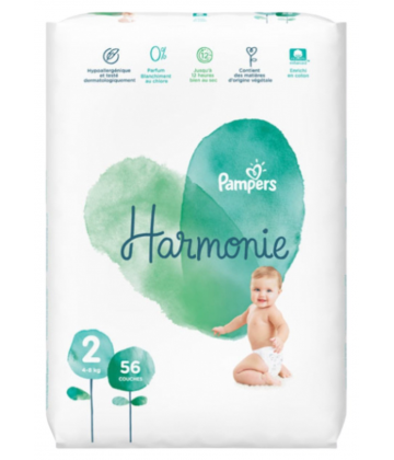 Pampers Harmonie Taille 2 x 56